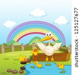 illustration of ducks and a... | Shutterstock .eps vector #125127677