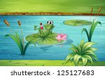 Illustration Of A Frog In A...