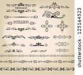 vector set  calligraphic design ... | Shutterstock .eps vector #125164523