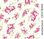 seamless floral pattern with... | Shutterstock .eps vector #125178443