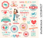 valentine s day set   labels ... | Shutterstock .eps vector #125184527
