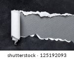 torn black parchment with grey... | Shutterstock . vector #125192093