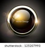 elegant shiny button with... | Shutterstock .eps vector #125207993