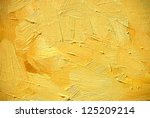 abstract painting for an interior of yellow shades,  illustration,  background - stock photo