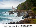 Lime Kiln Lighthouse. A Stormy...