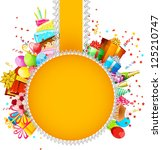 illustration of birthday card... | Shutterstock .eps vector #125210747