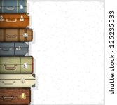 background with suitcases.... | Shutterstock . vector #125235533