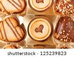 heart cookies | Shutterstock . vector #125239823