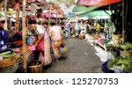 INLE LAKE, MYANMAR-NOVEMBER 17;The 5 Day Market by the Inle lake on nov.17 2011,Inle lake, Myanmar.Every 5th day all the hill tribe people come down from the mountains to buy and sell their goods - stock photo