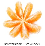 Orange isolated on white background. - stock photo