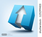 vector illustration of 3d cube... | Shutterstock .eps vector #125299403