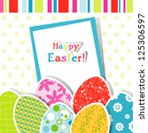 template easter greeting card | Shutterstock . vector #125306597