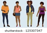black women | Shutterstock .eps vector #125307347