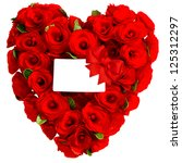 red heart of rose flowers with... | Shutterstock . vector #125312297