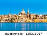 Valletta Skyline In The Evenin...