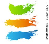 collection of paint splash.... | Shutterstock .eps vector #125346377