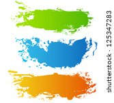 collection of paint splash.... | Shutterstock .eps vector #125347283