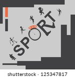 vector set web icons. sport and ...   Shutterstock .eps vector #125347817