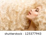 Постер, плакат: Curly Hair Fashion Girl
