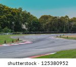 Race track curve road for car racing - stock photo