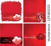 happy valentines day  vector...   Shutterstock .eps vector #125383223