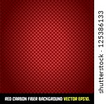 RED carbon fiber background VECTOR EPS10. - stock vector