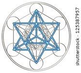 sacred geometry  flower of life ... | Shutterstock . vector #125387957