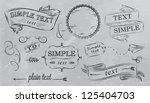 design elements in grey color.... | Shutterstock .eps vector #125404703