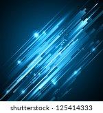 abstract blue lights... | Shutterstock . vector #125414333