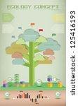ecology background info... | Shutterstock .eps vector #125416193