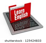 learn english concept | Shutterstock . vector #125424833