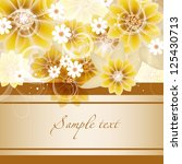 wedding card or invitation with ... | Shutterstock .eps vector #125430713