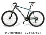 mountain bicycle bike with... | Shutterstock . vector #125437517