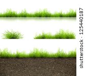 green grass with in soil... | Shutterstock . vector #125440187