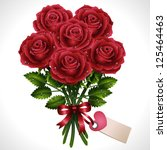 rose bouquet  vector... | Shutterstock .eps vector #125464463