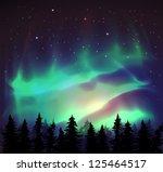 aurora borealis background  ... | Shutterstock .eps vector #125464517