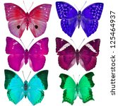 collection of colorful... | Shutterstock . vector #125464937