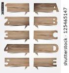 vector wood texture background... | Shutterstock .eps vector #125465147