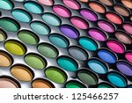 colorful eye shadows palette.... | Shutterstock . vector #125466257