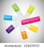 vector glossy paper color...