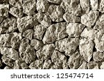 grey stones, balearic style - stock photo