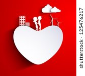 beautiful st. valentine's day... | Shutterstock .eps vector #125476217