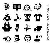 soccer icons | Shutterstock .eps vector #125509673