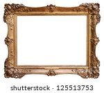 wooden vintage frame isolated... | Shutterstock . vector #125513753