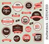 set of vintage badges and... | Shutterstock .eps vector #125519333