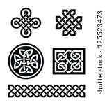 celtic knots patterns   vector | Shutterstock .eps vector #125523473
