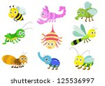 funny cartoon and vector... | Shutterstock .eps vector #125536997
