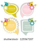 speech bubbles with birds | Shutterstock .eps vector #125567207