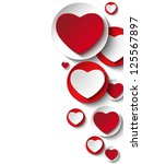 vector   valentine day heart on ... | Shutterstock .eps vector #125567897