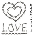 heart of chain  chain of love | Shutterstock .eps vector #125569457